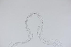 'Self portrait in landscape'