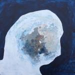 'Contemplation' gesso, glue, pigment, acrylic on board, 25cm x 25cm, £385