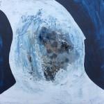 'Inner World' gesso, glue, acrylic on board, 25cm x 25cm, £385