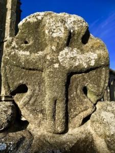 Stone Carving, Paul Church wall, Cornwall
